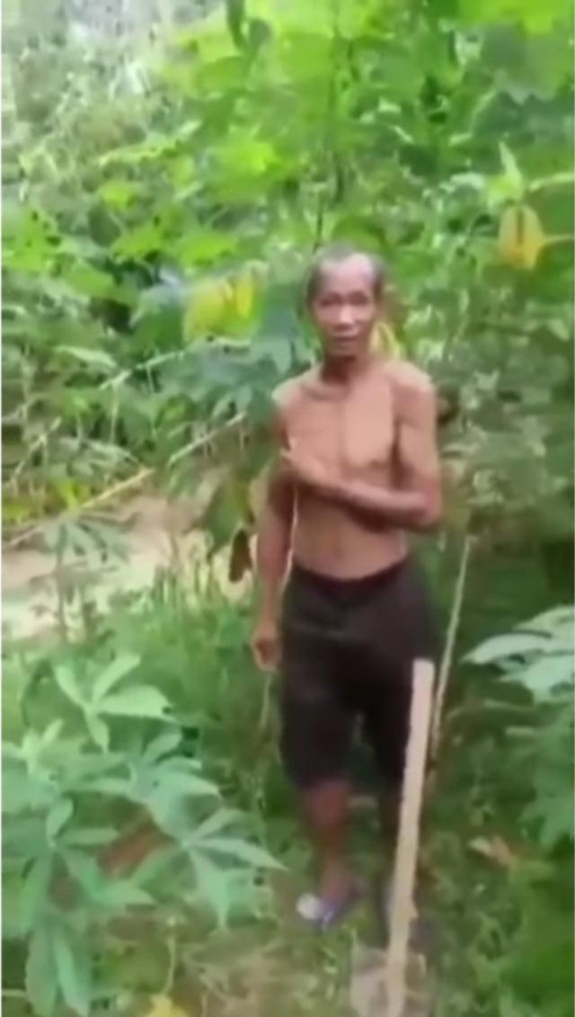 Curi Singkong karena Kelaparan, Kakek Ini Malah Diberi Uang oleh Pemilik Kebun  (13837)