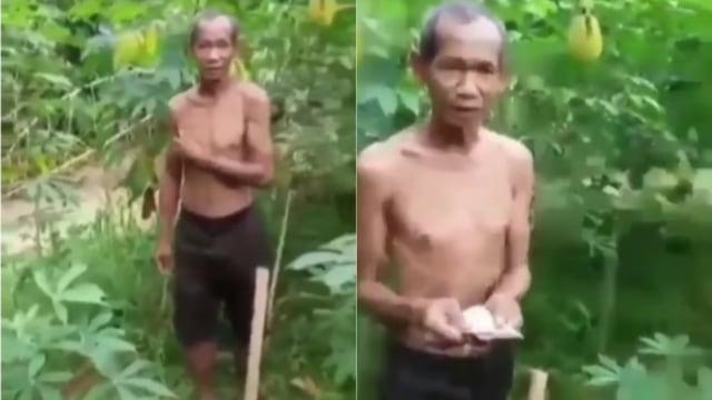 Curi Singkong karena Kelaparan, Kakek Ini Malah Diberi Uang oleh Pemilik Kebun  (13838)