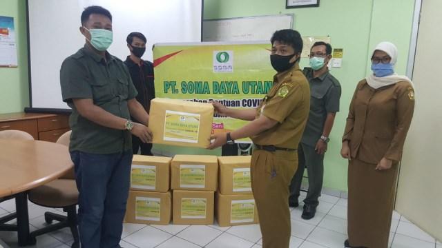 PT SOMA Karimun Sumbang Masker dan APD Bantu Penanganan COVID-19 (62174)