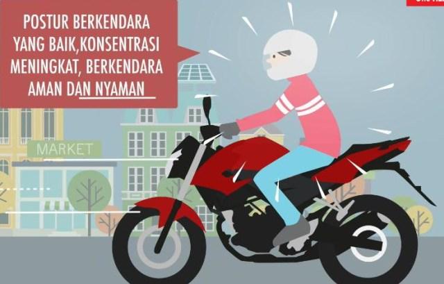 7 Postur Kendarai Sepeda Motor Agar Aman dan Nyaman (69006)