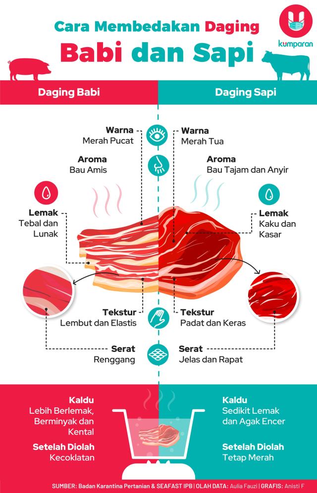 Awas Salah Pilih! Ini 5 Cara Membedakan Daging Babi dan Sapi (151728)