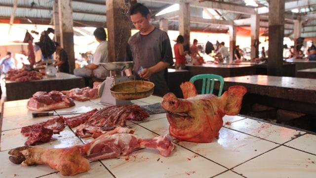 Foto Ilustrasi daiging babi