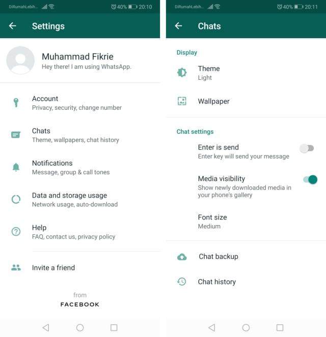 Cara Pasang Wallpaper Background WhatsApp
