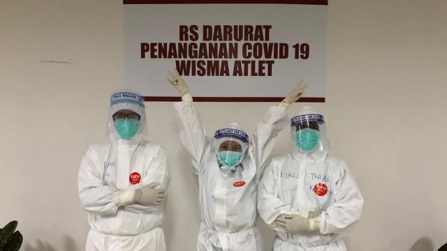 Falla Adinda, dokter relawan di RS Wisma Atlet CVR