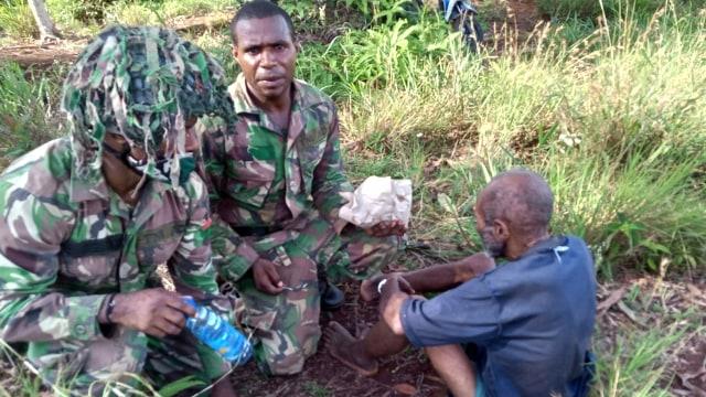 TNI temukan lansia hilang di Pegunungan Bintang Papua