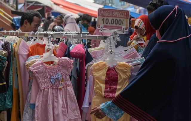 Pasar tradisional jelang lebaran saat corona- Bekasi
