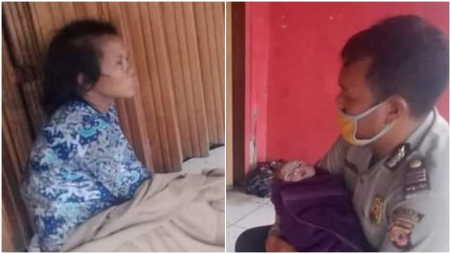 Salut, Polisi di Karawang Bantu Tunawisma Melahirkan di Pinggir Jalan (314644)