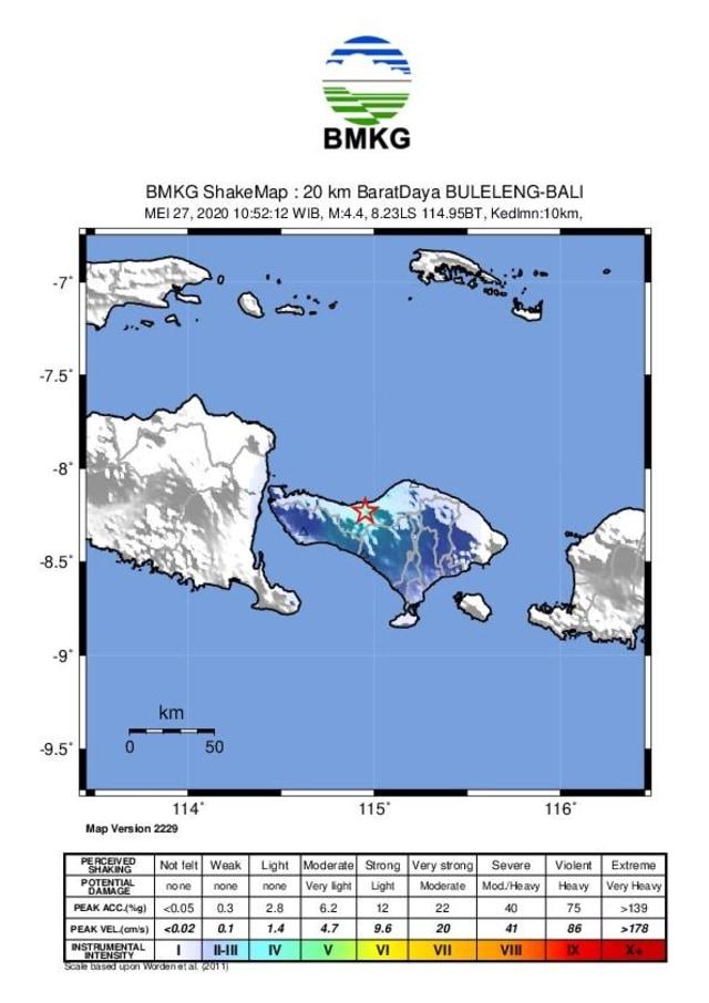 Gempabumi 4,4 SR Guncang Buleleng, Bali  (582687)