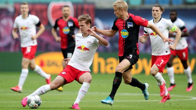 Bundesliga: RB Leipzig Ditahan Hertha Berlin, Julian Nagelsmann Keluhkan Jadwal (651454)