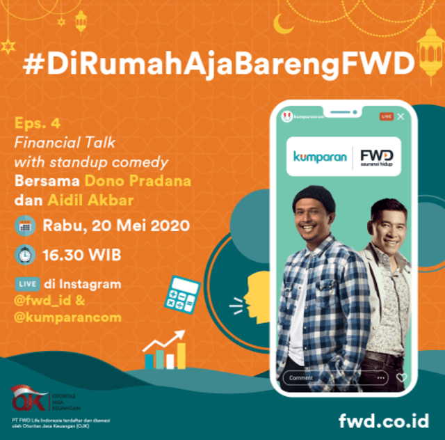 """Keseruan Rangkaian Acara #DirumahAjaBarengFWD part """"Financial Talk"""" Bareng FWD (218)"""