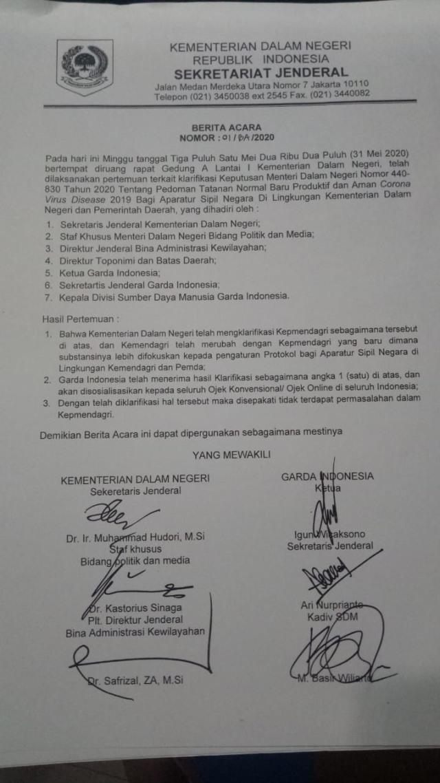 Setelah Ditemui Pejabat Kemendagri, Ojol Jamin Tak Demo ke Istana (405474)