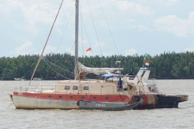 Pelaku Perompakan Kapal WN Australia Diduga Warga Sungai Sibur, Sumatra Selatan  (5181)