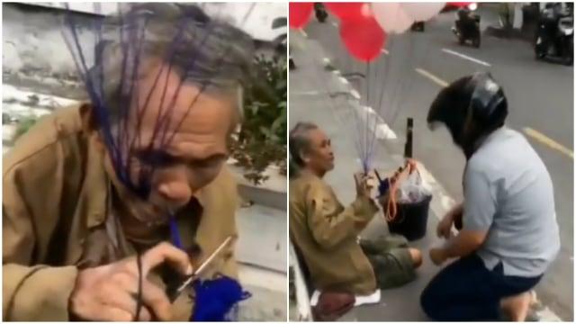 Kisah Perjuangan Kakek di Yogyakarta Tempuh Jarak 33 Km Jualan Balon (20396)