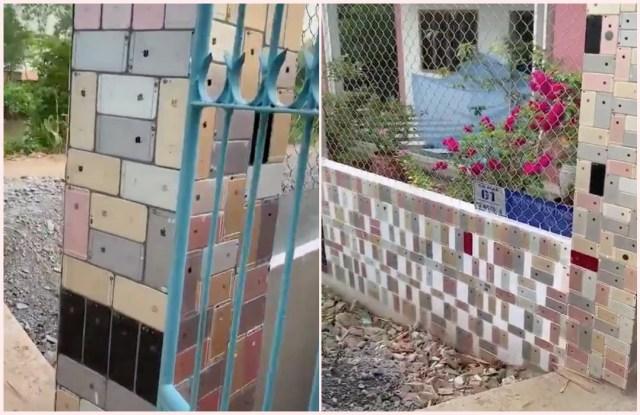 Tembok Pagar Rumah Ini Dilapisi Dengan Ratusan Iphone Kumparan Com