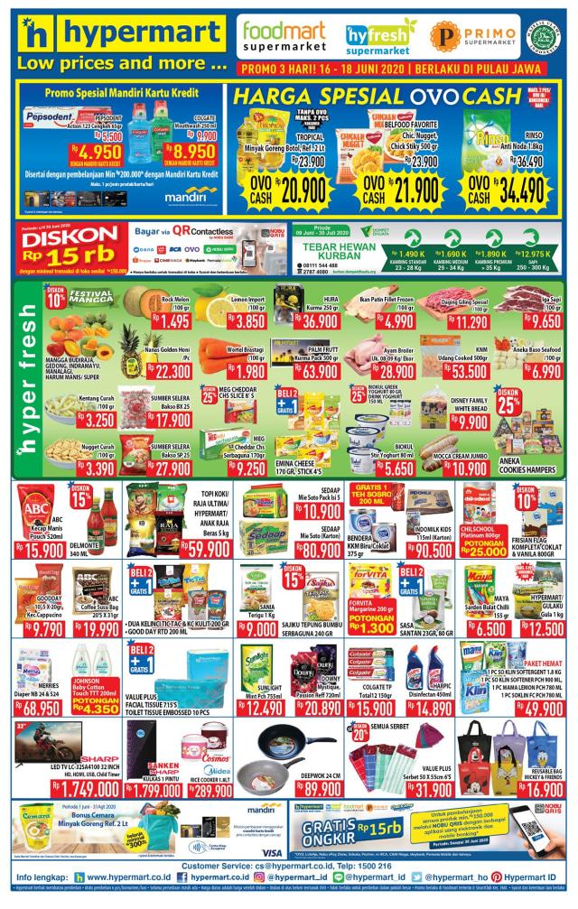 Promo Hypermart Periode 16-18 Juni 2020, Belanja Perlengkapan New Normal Murah (63421)
