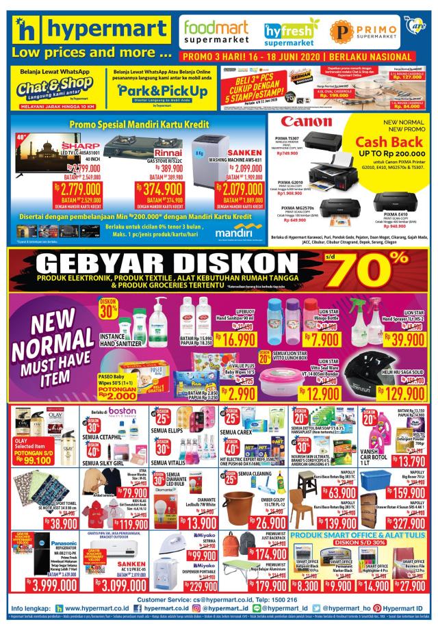 Promo Hypermart Periode 16-18 Juni 2020, Belanja Perlengkapan New Normal Murah (63422)