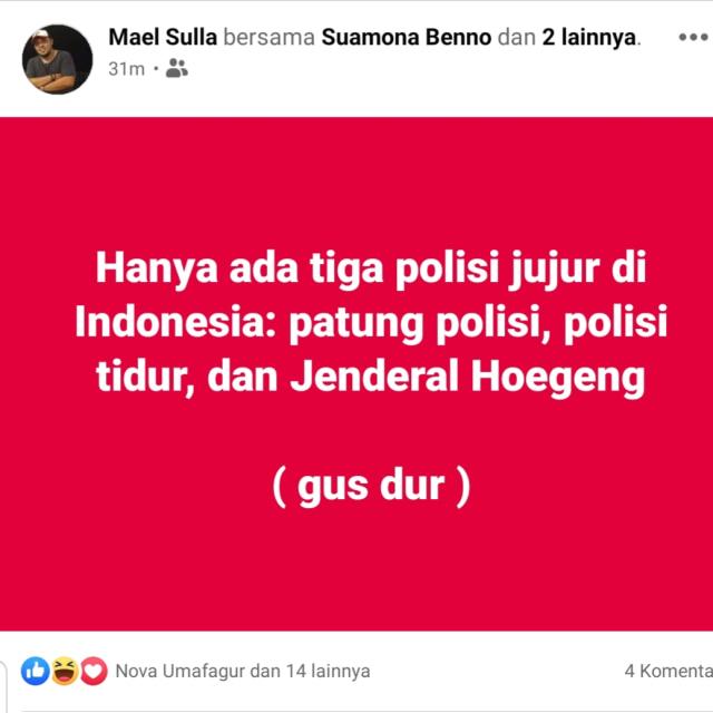 Polri Ingatkan Polres Kepulauan Sula soal Humor Gus Dur: Jangan Terlalu Reaktif (14574)