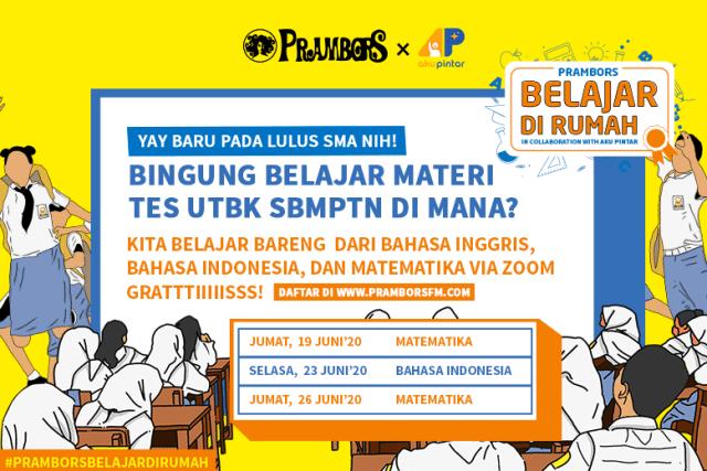 Persiapan Masuk PTN Favorit, Prambors Ajak Anak SMA Belajar UTBK Gratis! (309177)