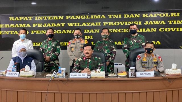 Panglima TNI Minta Surabaya Serius Tangani Pandemi Virus Corona (656374)