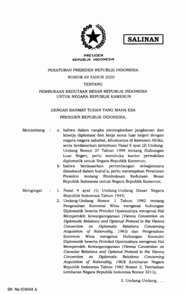 Indonesia Buka Kedutaan di Kamerun (354856)