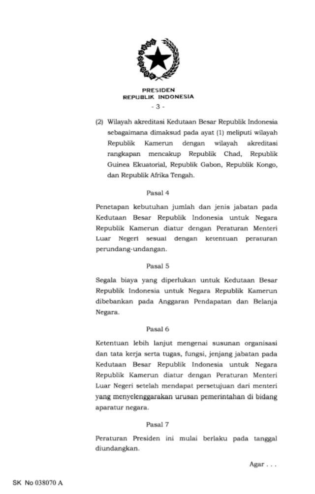Indonesia Buka Kedutaan di Kamerun (354857)