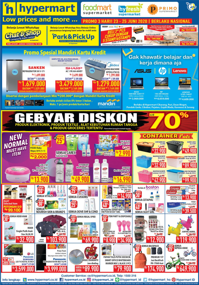 Katalog Promo Hypermart 23-25 Juni 2020, Ada Banyak Diskon Menggiurkan (36893)