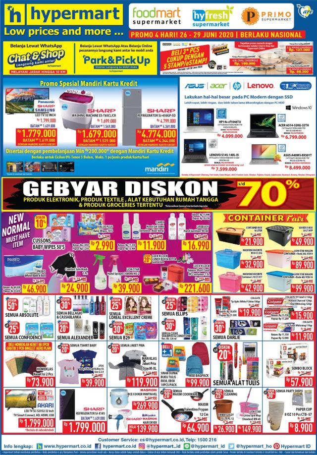 Katalog Promo Hypermart JSM Weekend Hari ini, Periode 26 - 29 Juni 2020 (13235)