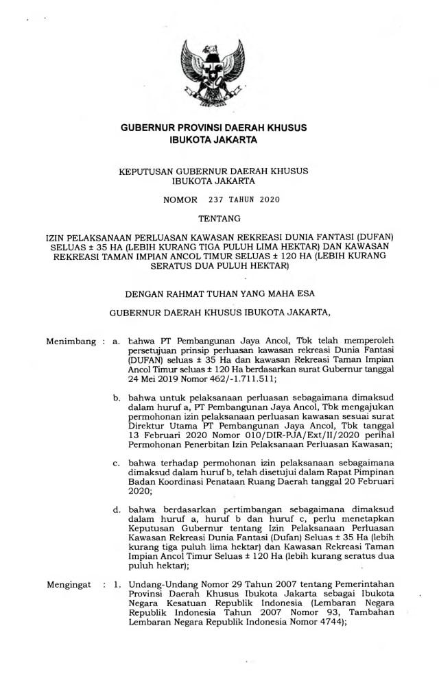 Anies Jelaskan Alasan Terbitkan Kepgub untuk Reklamasi Ancol  (25174)