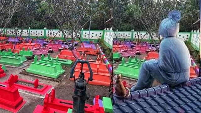 Biar Tak Terkesan Angker, Makam di Madiun Dibikin Warna-warni bak Sekolah TK (23543)