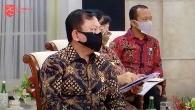 Menkes Terawam saat mendengar sentilan Presiden Jokowi