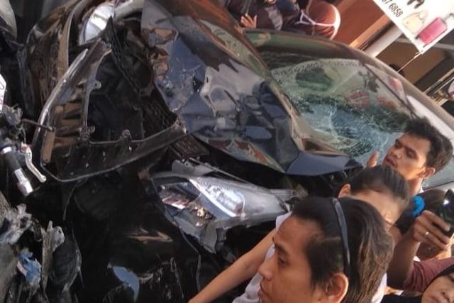 Mobil tabrak 5 motor di Kota Bogor