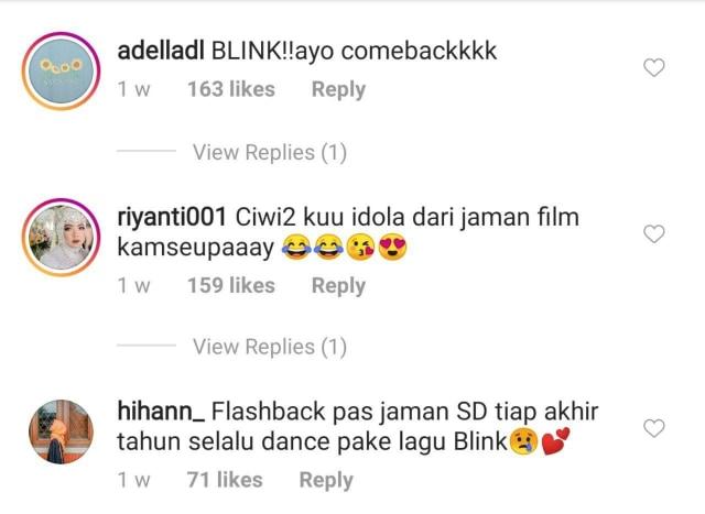 Reuni Girlband BLINK, Netizen: Comeback Dong! (204014)