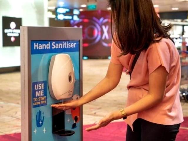 Fasilitas contactless di Bandara Changi