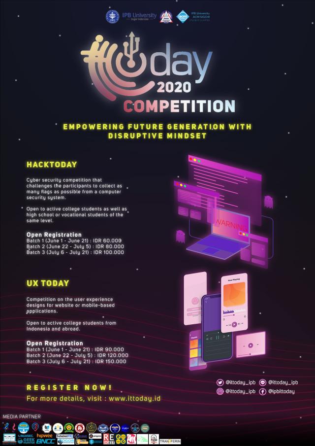 IPB Selenggarakan IT Today 2020 Competition Tingkat Nasional & Internasional (994871)
