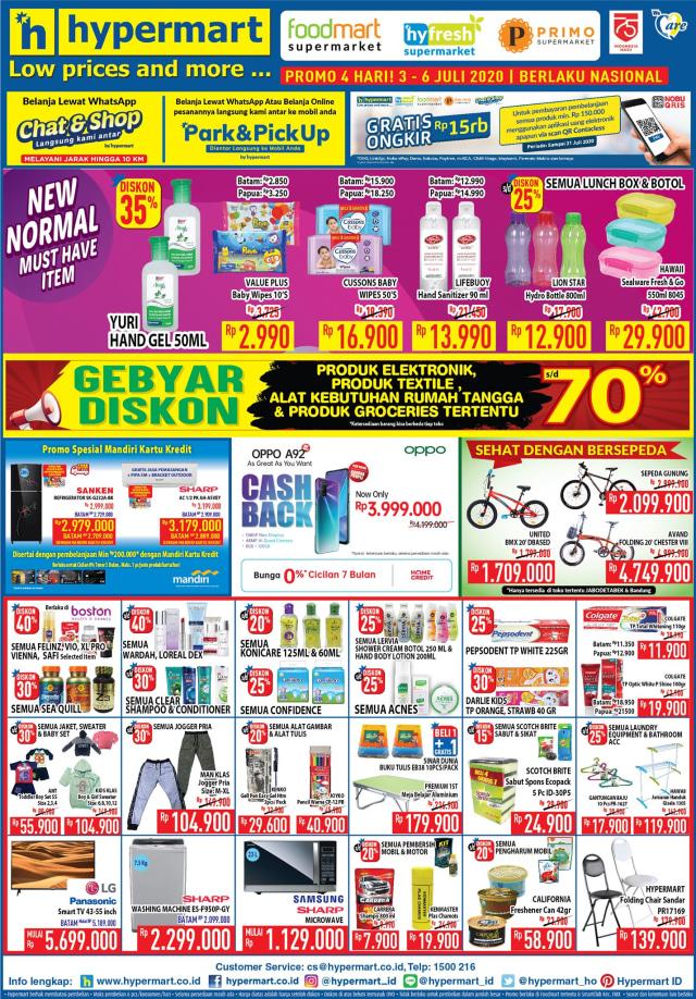 Katalog Promo Hypermart JSM Weekend Periode 3-6 Juli 2020, Diskon Hingga 70% (34550)