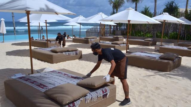Foto: Persiapan Sektor Pariwisata di Bali Jelang Dibuka Kembali (25041)