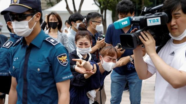 Foto: Suasana Haru di Penghormatan Terakhir Wali Kota Seoul (136479)