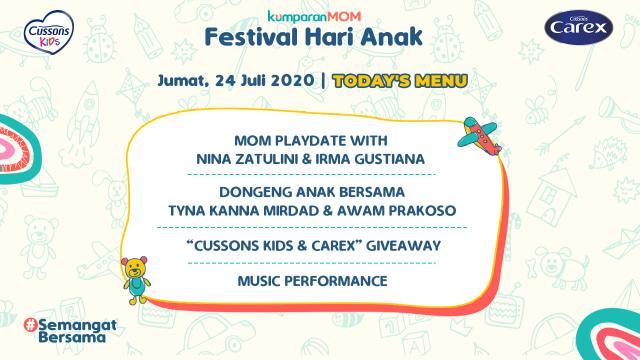 Ragam Acara di Festival Hari Anak bersama kumparanMOM dan Cussons Kids & Carex (137386)