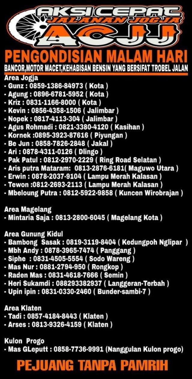 ACJJ, Pasukan Penyelamat  Ban Bocor dan Motor Mogok di Jalanan Jogja Malam Hari (528634)