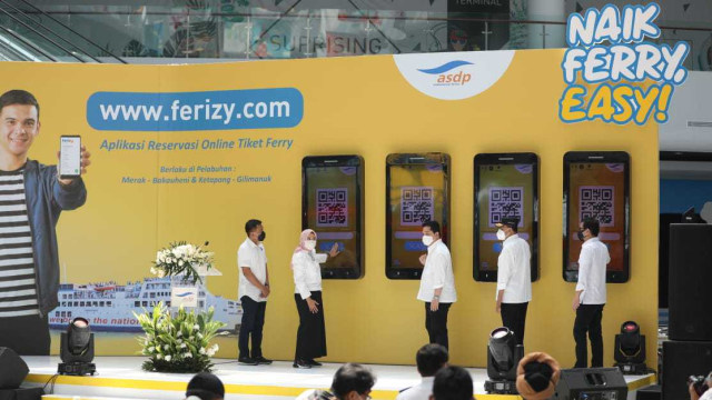 Erick Thohir Resmikan Layanan Tiket Online Ferizy untuk Naik Kapal Ferry ASDP (45532)