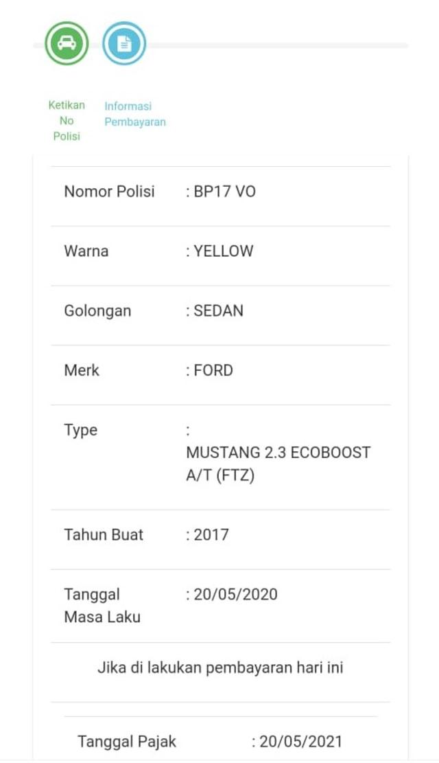 Ini Besaran Pajak Mobil Ford Mustang Milik Bos PS Store, Capai Belasan Juta (373915)