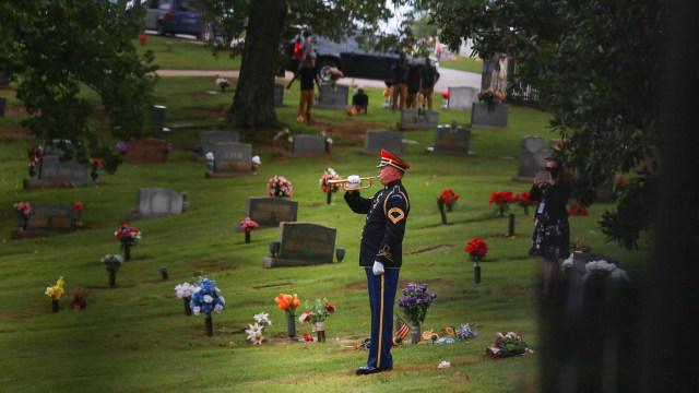 Foto: Pemakaman Aktivis HAM John Lewis (536546)