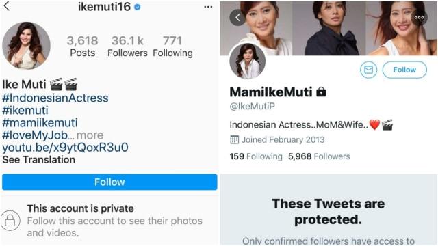Ike Muti Gembok Akun Medsosnya Usai Disomasi Pemprov DKI karena 'Foto Jokowi' (2)