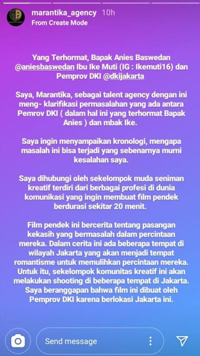 Agensi Klarifikasi Ucapan Ike Muti soal Proyek dengan Syarat Hapus Foto Jokowi (1282384)