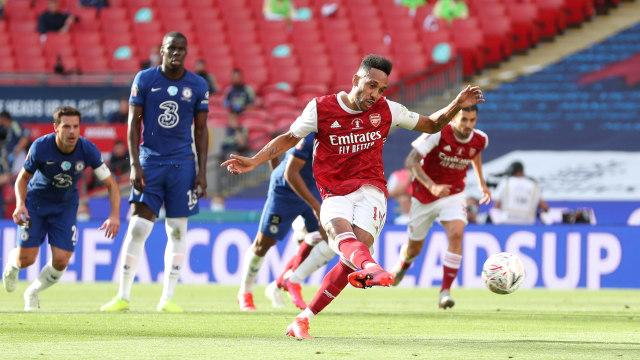 Arsenal Juara Piala FA, Arteta Optimistis Aubameyang Perpanjang Kontrak (6616)