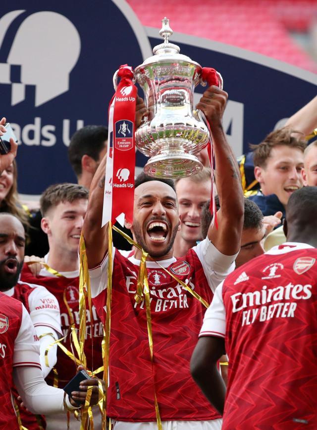 Foto: Arsenal Rayakan Gelar Juara Piala FA 2020 (367226)