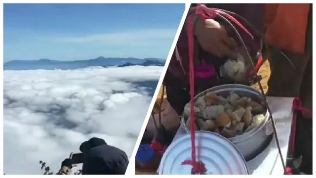 Pedagang Bakso Tusuk Ini Jualan di Puncak Gunung Cikuray (637405)