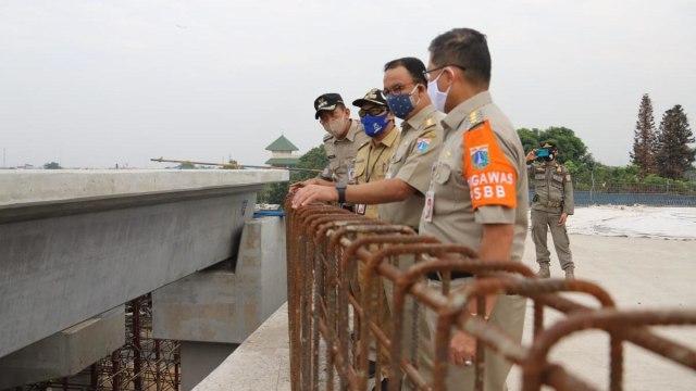 Anies Siapkan Jalur Sepeda di Flyover Tapal Kuda Lenteng Agung (54828)