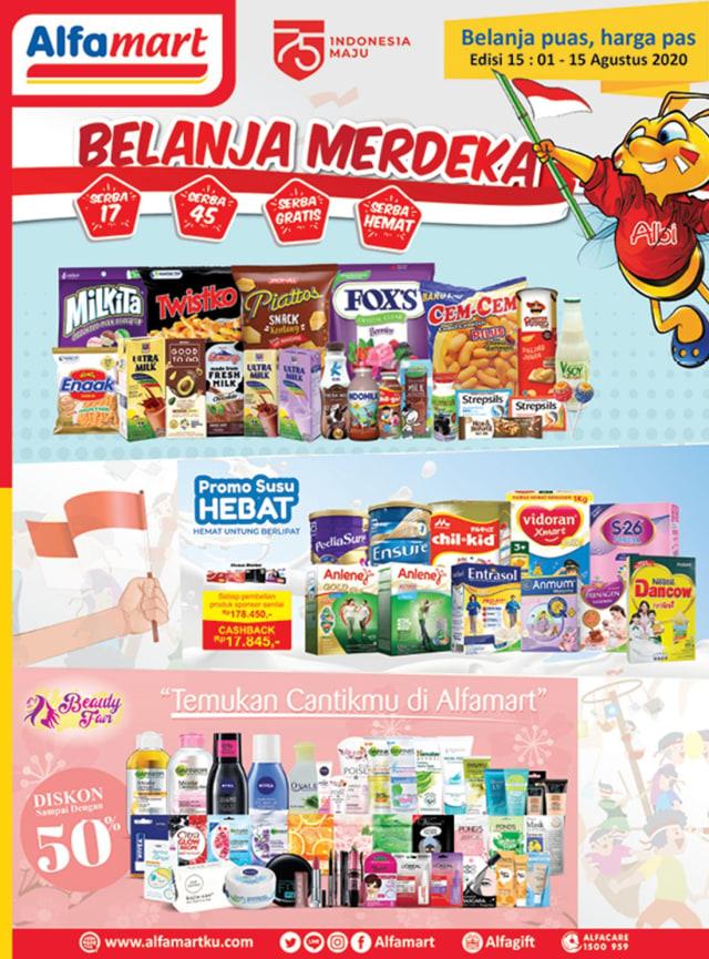 Katalog Promo Alfamart Belanja Merdeka Periode 1 15 Agustus 2020 Kumparan Com