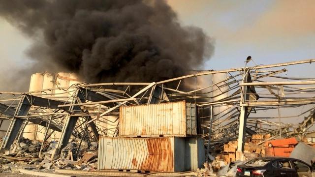 Ledakan Dahsyat di Beirut Diduga Berasal dari Gudang Bahan Peledak  (161808)